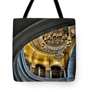Ceiling And Chandelier In Bellagio Tote Bag