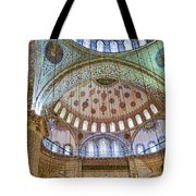 Ceiling Of Blue Mosque Tote Bag