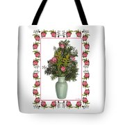 Celadon Vase With Goldenrod Tote Bag