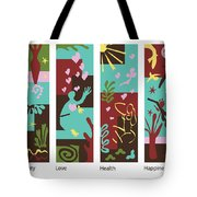 Celebrate Life 4 Panels Tote Bag