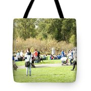 Celebration Of Life In Colorful Skirts Tote Bag