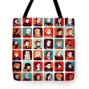 Celebrities Tote Bag