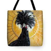 Celestial Chicken - Lady Hawk Tote Bag