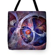 Celestial North - Fractal Art Tote Bag