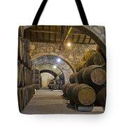 Cellar With Wine Barrels Tote Bag