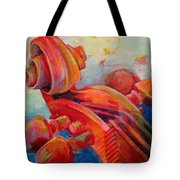 Cello Head In Red Tote Bag