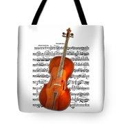 Cello With Clara Bow Tote Bag