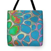 Cells Abstract Three Tote Bag