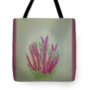 Celosia Dragon's Breath Acrylic Painting By Artist Rosie Foshee Tote Bag