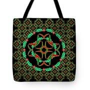 Celtic Christmas Holly Wreath Tote Bag