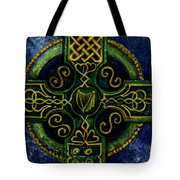 Celtic Cross - Harp Tote Bag