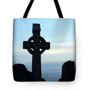 Celtic Cross At Sunset Donegal Ireland Tote Bag