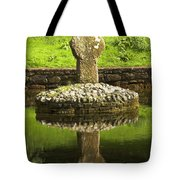 Ancient Celtic Cross At St Patrick Well Tote Bag