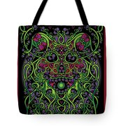 Celtic Day Of The Dead Skull Tote Bag