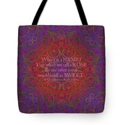 Celtic Romeo And Juliet Tote Bag