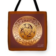 Celtic Spiral And Key Pattern Tote Bag