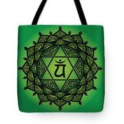 Celtic Tribal Heart Chakra Tote Bag