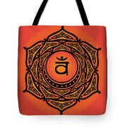 Celtic Tribal Sacral Chakra Tote Bag