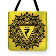 Celtic Tribal Solar Plexus Chakra Tote Bag