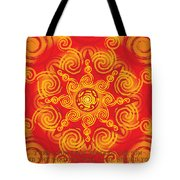 Celtic Tribal Sun Tote Bag