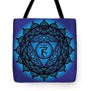 Celtic Tribal Throat Chakra Tote Bag