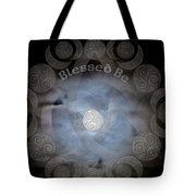 Celtic Triple Moon Goddess Mandala Tote Bag