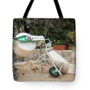 Cement Mixer And A Wheelbarrow In Croatia Tote Bag