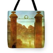 Cemetary At Dusk Tote Bag
