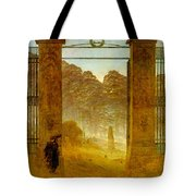 Cemetery At Dusk Hse Tote Bag
