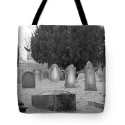 Cemetery Church Of St. Mary Wedmore Tote Bag