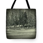 Cemetery In The Woods Tote Bag