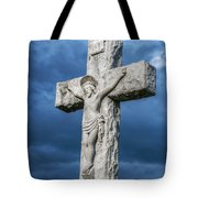 Cemetery Statue Of Jesus Tote Bag