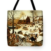 Census At Bethlehem Tote Bag by Pieter the Elder Bruegel