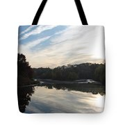 Centennial Lake Autumn - Great View From The Bridge Tote Bag