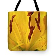 Center Of A Lily Tote Bag
