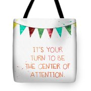 Center Of Attention- Card Tote Bag