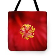 Center Of The Hibiscus Universe Tote Bag