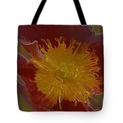 Center Of Yellow Tote Bag