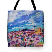 Center Panel Of Triptych Busy Relaxing Tote Bag