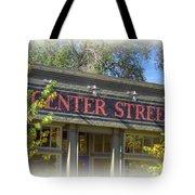Center Street Cafe Sign Tote Bag