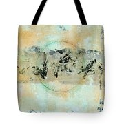 Centered Within Chaos Tote Bag