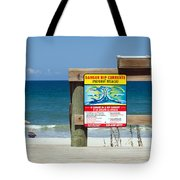 Central Florida Beach Warning Tote Bag