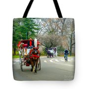 Central Park Horse And Buggy Rides New York City Tote Bag