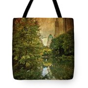 Central Park In Autumn Texture 4 Tote Bag