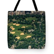 Central Park North Meadow In New York City Aerial View Tote Bag