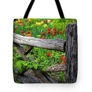 Central Park Shakespeare Garden New York City Ny Wooden Fence Tote Bag