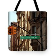 Central Park West Tote Bag
