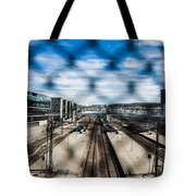 Central Train Station In Oslo Tote Bag