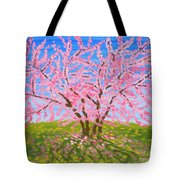 Cercis Tree, Oil Painting Tote Bag