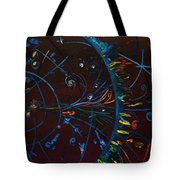 Cern Atomic Collision  Physics And Colliding Particles Tote Bag